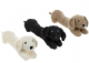 Homecraft Fluffy Dog Draught Excluder Available in Black, Cream or Brownn41276